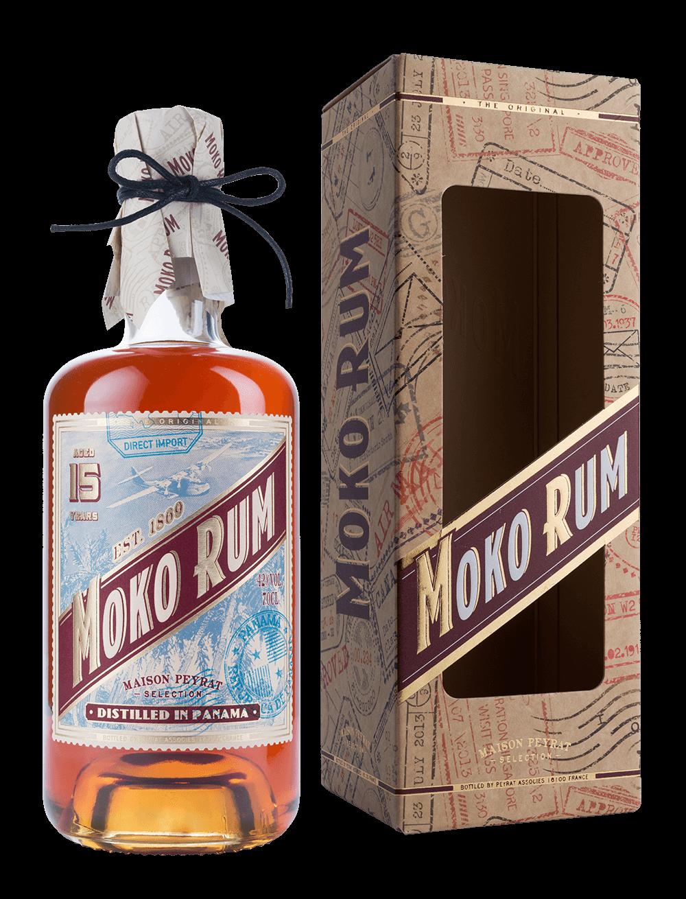 Moko Rum Distilled in Panama 15 ans d'âge