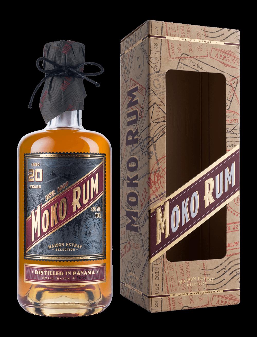 Moko Rum Distilled in Panama 20 ans d'âge